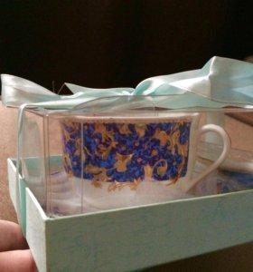 Подарок. Набор: чашка, блюдце и ложка