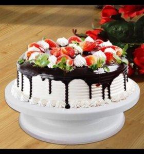 Вращающая тарелка для оформления тортов