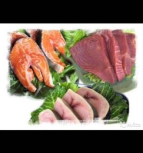 Свинина, курица, говядина, рыба (свежемороженная)