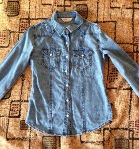 Джинсовая рубашка на девочку
