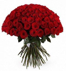 101 красная роза сорта Freedom (Фридом)