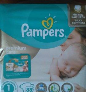 Pampers Premium care 1(от2-5кг)-88шт
