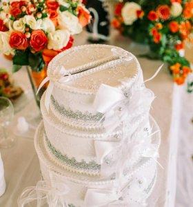 Сундук-торт для денег на свадьбу