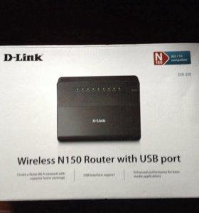 Wi-Fi роутер D-link D-320 D1A рабочий