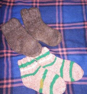 Носочки вязанные плотные