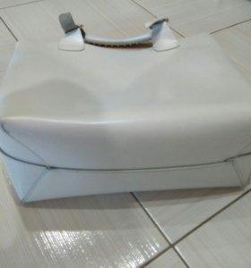 сумка белая кожа