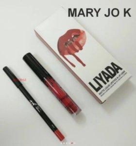 Набор матовая помада+ карандаш