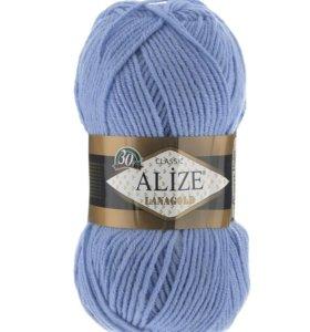 Пряжа Alize Lanagold голубой