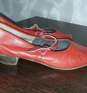 Туфли кожаные для занятий танцами