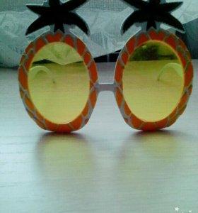Летние, яркие, солнечные очки в виде ананасов🍍.