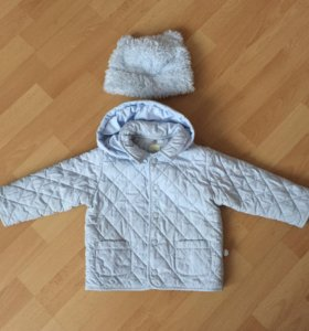 Комплект на весну куртка brums и шапка на 86р