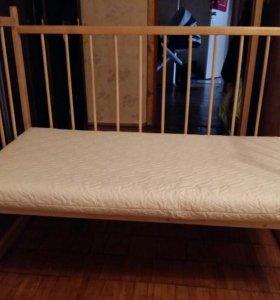 Кроватка+матрас