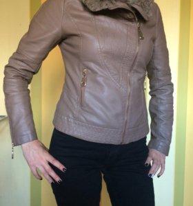 Куртка кожаная, бу в отличном состоянии