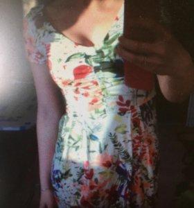 Фирменное летнее платье 36
