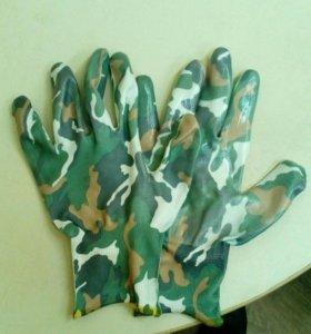 Перчатки рабочие обливные стрейчевые