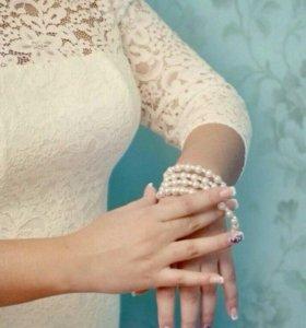Элегантное прямое свадебное платье