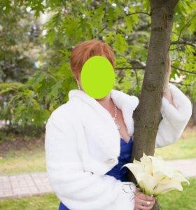 Свадебное/вечернее платье+шубка+болеро+туфли