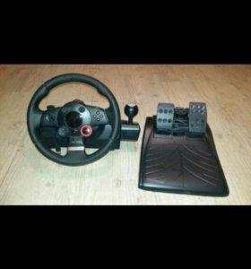 Руль с педалями для пк, PS3, PS2
