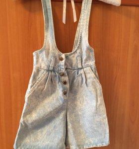 Шорты  - сарафан , джинсовые ,новые