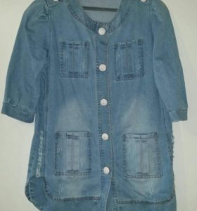 Пиджак джинсовый удлиненый