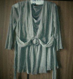 Блузка тонкая полупрозрачная