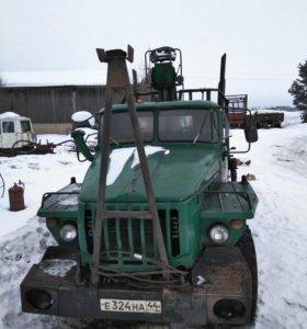 Урал 4320 лесовоз с ГМП