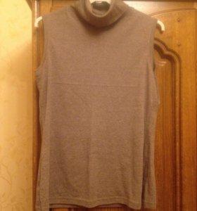 Водолазка свитер без рукавов