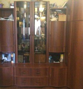 Стенка с угловым шкафом для одежды