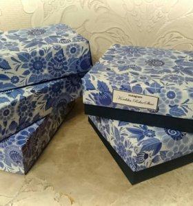 Коробочки гжель для подарка (на пасху, праздник)