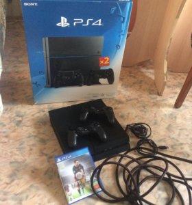 Sony Playstation 4 500gb + 2 джойстика
