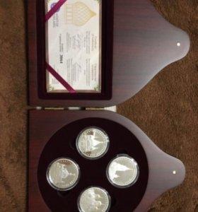 Набор подарочный с серебряными монетами