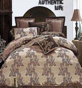 Комплекты постельного белья из жаккарда с вышивкой