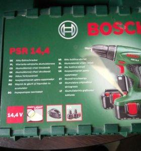 Шуруповёрт Bosch PSR 14,4 + 2