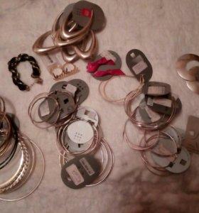Серьги, браслеты для рукоделия.