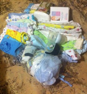 Детские вещи пакетом и маме в род. Дом