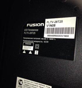 LED Телевизор fusion FLTV-28T25 на запчасти