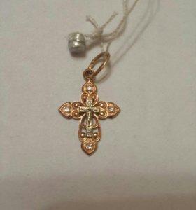 Крестик золотой