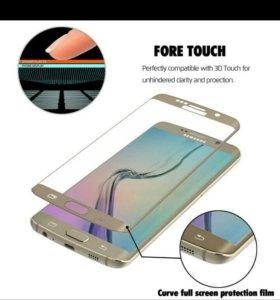 На Samsung Galaxy S7 Edge стекло 3D чехол
