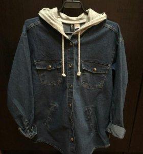 Толстовка джинсовая h&m