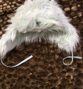 Новая меховая шапка со знаком диор и стразой