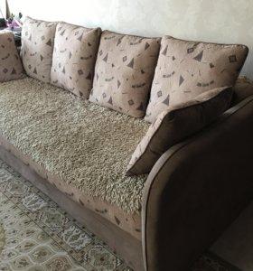 Продам диван ( еврокнижка) и кресло