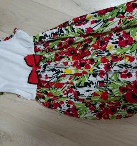 Платье на девочку 5-6-7 лет