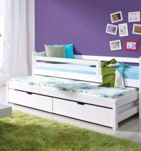 Кровать детская/подростковая из массива сосны