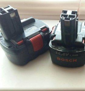 Аккумуляторы-2шт на шуруповерт bosch 14,4v в