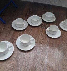 Чайный набор +6 тарелок + подарок