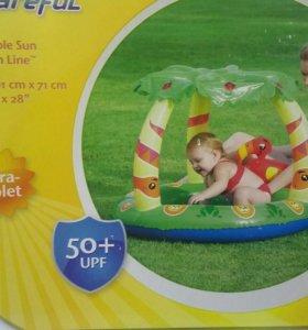 Детский надувной бассейн с навесом