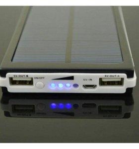 Универсальный внешний аккумулятор на солнечных бат