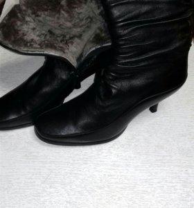 Ботинки натуральныи мех и кожа женские новые