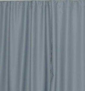 Серые шторы из блэкаута