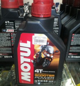Масло Motul Scooter power 4-т 5W40 1 литр